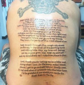 Dawn Lubbert Tattoo Art - Bikers Prayer