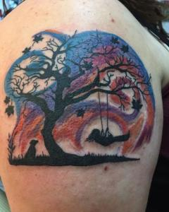 Dawn Lubbert Tattoo Art - Tree Swing