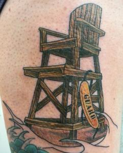 Jon Egenlauf Tattoo Art - Lifeguard Chair