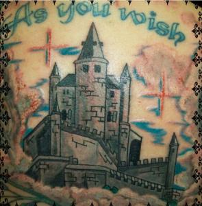 Dawn Lubbert Tattoo Art - The Princess Bride Castle and 'As You Wish'