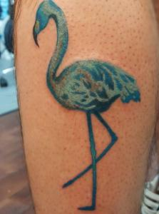 Jon Egenlauf Tattoo Art - Flamingo