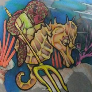 Eric Gaspar Tattoo Art - Seahorse