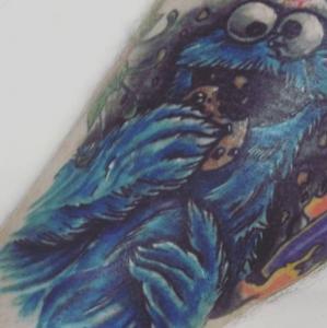 Eric Gaspar Tattoo Art - Cookie Monster
