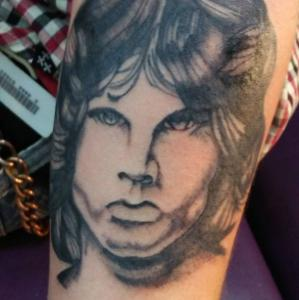 Eric Gaspar Tattoo Art - Jim Morrison