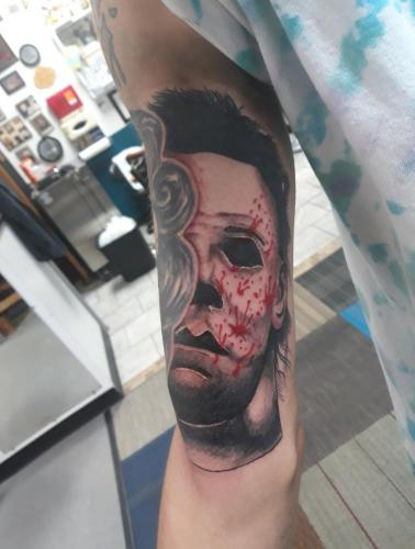 Marshall Reagan - Michael Myers Tattoo